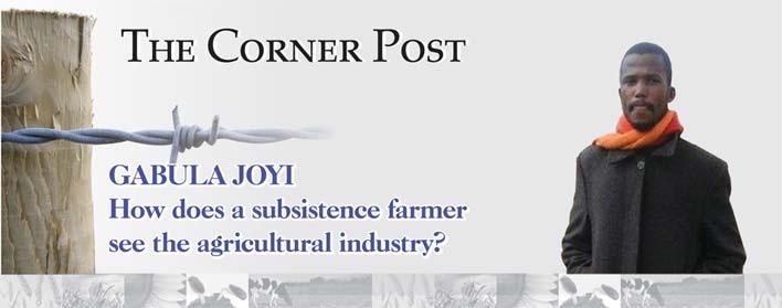 GABULA JOYI: How does a subsistence farmer see the agricultural industry?