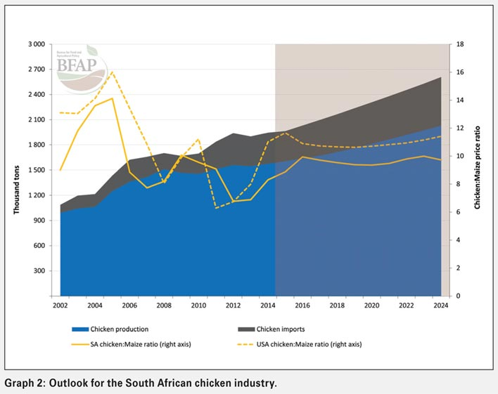 Chicken to maize price ratio