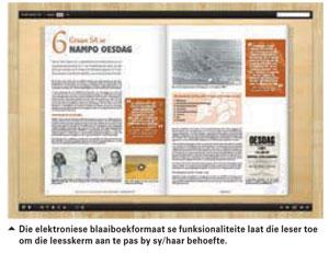 Verhaal van grane en oliesade in SA in e-formaat verpak
