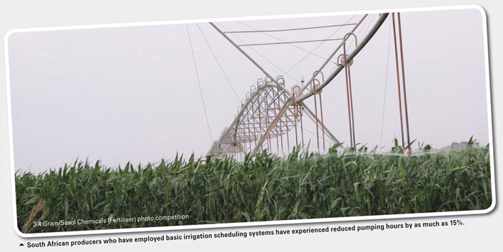 Irrigation scheduling to navigate load shedding and optimise water consumption