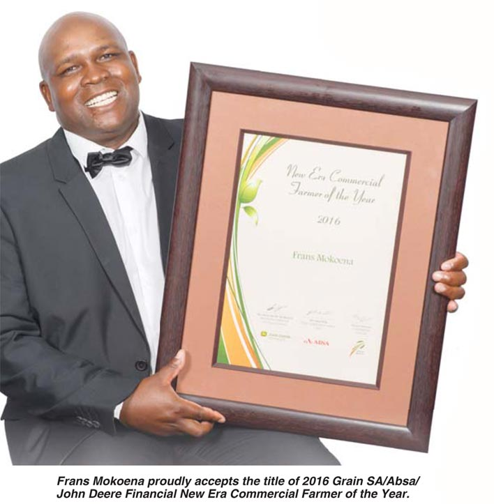 FRANS MOKOENA - our New Era Commercial Farmer of the Year