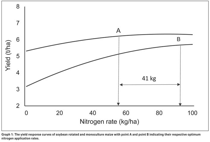 The nitrogen replacement value of soybean on a following maize crop