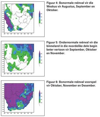 Verwagte klimaat/weerstoestande vir die 2016/2017-somerreënvalseisoen